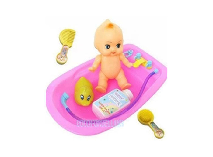 baby doll in bath tub with duck and bathroom idea accessories set toy supplies ebay. Black Bedroom Furniture Sets. Home Design Ideas